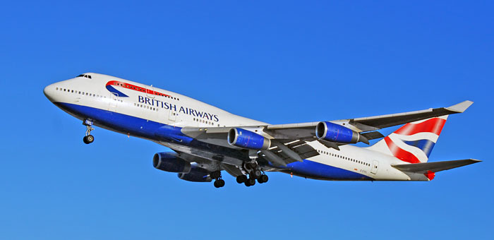 BA British Airways plane
